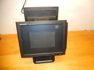 Sharp Rz x650 Touch Screen Pos Monitor With Optional Card Reader Rear Display