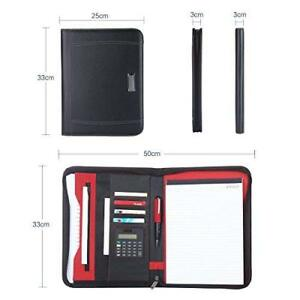 Portfolio A4 File Folder Padfolio Writing Pad Business Presentation Folder Black
