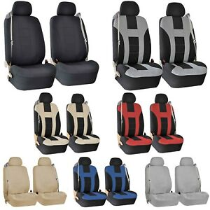 Premium Front Seat Covers For Car Truck Suv With Integrated Built In Seat Belts