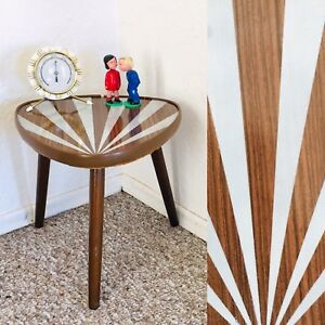 Tripod Mid Century Plant Stand Table Display Side End Table Vintage Ray Of Sun