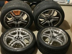 19 inch Mercedes Sl550 R230 Staggered Rims With Tires