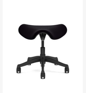 Humanscale Freedom Chair Ergonomic Saddle Stool Triangle Vellum Black Msrp 399
