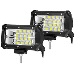 5inch 480w Led Work Lights Flush Mount Led Pods Driving Lamps Truck Ford Ram 4wd