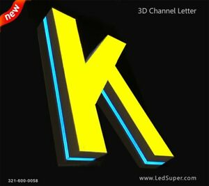 New 3d Led Channel Letter 20 Side Lit And Front Lit Custom Made