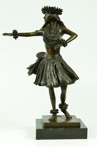 Kilohinani Heavenly Gaze Hawaiian Hula Girl Statue Moreau Cast Real Bronze New