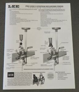 LEE Pro 1000 ManualInstructions NEW