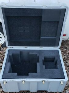 Hardigg 34 X 24 X 16 Id Hinged Lid Military Case Pelican Shipping Trunk Grey