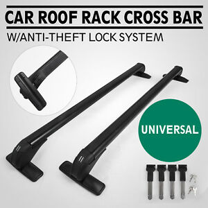 Universal Roof Rack Cross Bar Carrier Lock System Anti Theft Architectural