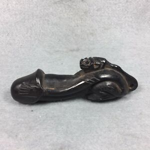 Carve Monkey Wood Phra Lp Fhak Powerful Love Attraction Thai Amulet Buddha Old
