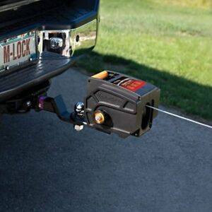 12v Portable Winch Master Lock Electric Hitch Boat Trailer Remote Hook Truck Tow
