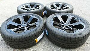 Black Yukon Denali Sierra Wheels Rims Tires 22 Rally Midnight Denali 5662 Ck162