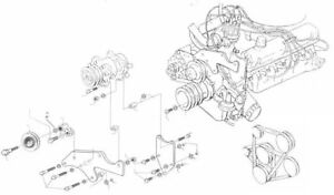 1965 1966 Ford Mustang 289 Ac Compressor Bracket Kit For Sd508 Or Seltec Type