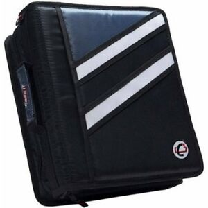 Case it The Z 3 Ring Binder Black New Double Storage 1 5 D Ring