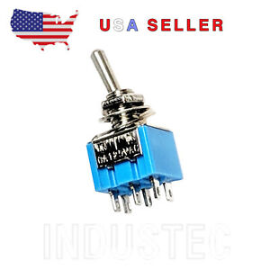 Industec 6 Amp 125v Dpdt Micro Toggle Switch 100