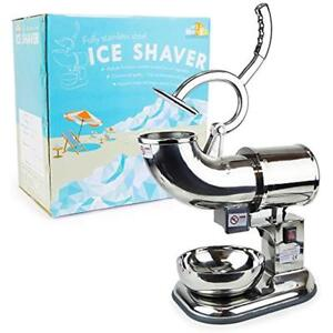 Wyzworks Shaved Ice Machines Stainless Steel Commercial Heavy Duty Shaver With 2