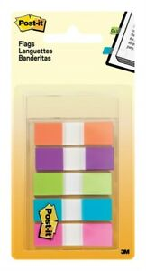 Post it 0 5 In W X 1 7 In L Assorted Flag Page Markers 5 Pad