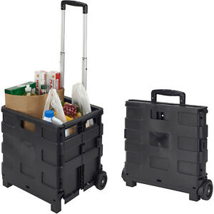 Simplify Folding Portable Wheeled Tote And Go Collapsible Utility Cart