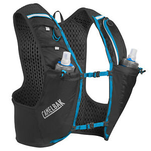 Camelbak Running Ultra Pro Vest With 2 X 500ml Quick Stow Flask Black Large