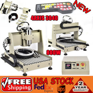 Cnc Router Engraver 4 Axis 3040 800w Vfd Drill Machine 3d Carving Controller