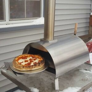 Table Top Wood Fired Outdoor Pizza Oven Cooking