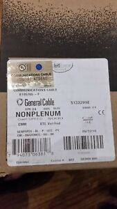 General Cable Genspeed 5000 5133299e Cat 5e Riser Cable 200ft