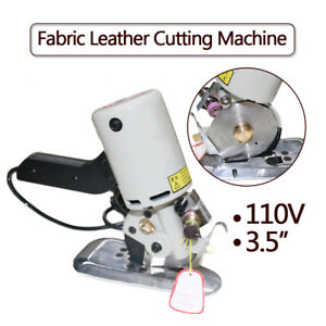3 5 Electric Cloth Cutter Fabric Leather Cutting Machine Round Scissors Blade