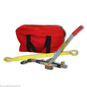 Tree Workers Combo W 6 Strap Large Gear Bag Long Haul Rope Puller steel Frame