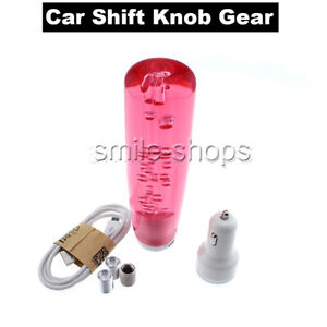 Universal Car Auto Manual Gear Shift Knob Stick Lever Shifter Cool Red Led Kit