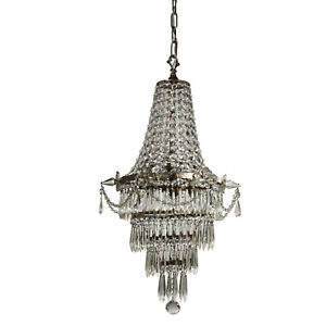 Empire Style Silver Plated Antique Chandelier Nc3164