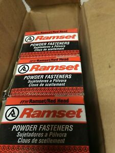 Ramset Red Head Powder Fastenings 300 X 3 4 Drive Pin Qty Of 8 Boxes 100 In Ea