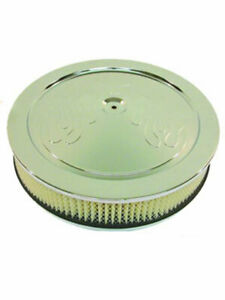 Rpc 14 X 3 Flame Muscle Car Style Round Air Cleaner Dominator Base R8199