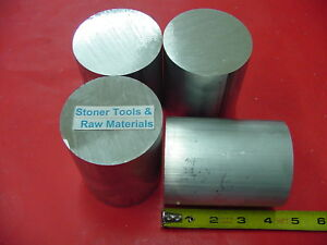 4 Pieces 2 1 2 Aluminum Round Rod 4 Long 6061 T6 Solid 2 50 Diameter Bar Stock