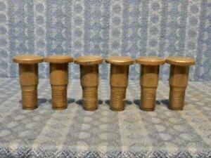 1935 1947 Ford Truck Nos Set Of 6 Front Wheel Stud 36 37 38 39 40 41 46 51 1107