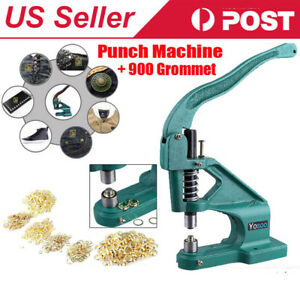 Hand Press Punch Machine For Press Studs Eyelets grommet Rivets Snap Popper