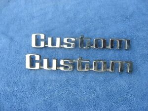 1976 1977 1978 Ford Truck Custom Emblems