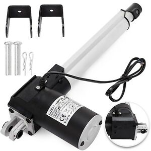 8 6000n Electric Linear Actuator 1320 Pound Max Lift Heavy Duty 24v Dc Motor
