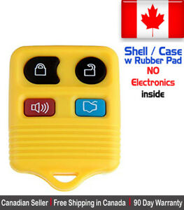 1x New Replacement Keyless Yellow Remote Control Key Fob For Ford Shell Case