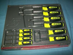 New Snap On Instinct Yellow Handled 10pc Screwdriver Pick Set Sgdx60204chv