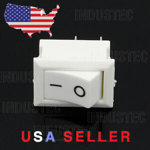 1 Mini 10 X 15mm On off Rocker Switch 2 Pin Maintained 6a Boat Car Appliance 12v