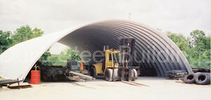 Durospan Steel 40x106x18 Metal Quonset Hut Building Kit Open Ends Factory Direct