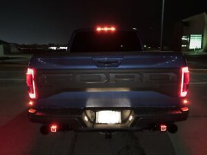 17 18 19 Raptor Rear Led Red Radiance Backup Light Kit W Rigid Led S 2019 2018