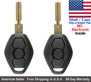 2x New Replacement Keyless Entry Remote Control Key Fob Case For Bmw Shell