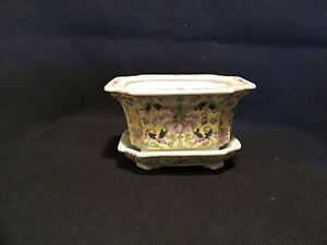 Antique Chinese Famille Rose Porcelain Planter