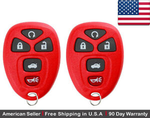 2x New Replacement Keyless Entry Remote Control Key Fob For Gm Chevy 22733524