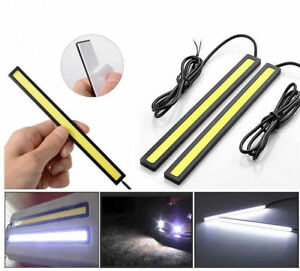 12v Led Cob Car Auto Drl Driving Daytime Running Lamps Fog Light Waterproof 17cm