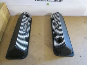 Vintage Pro Stock 351 Boss 302 Ford Valve Covers Aluminum Black Nos