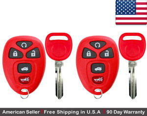 2x New Keyless Entry Remote Key Fob For Chevrolet Buick Cadillac Ouc60270