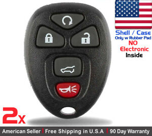 2x New Replacement Keyless Entry Remote Control Key Fob Case For Chevy Shell