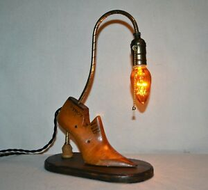 Industrial Steampunk Table Lamp Night Light Amber Light Bulb One Of A Kind