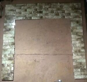 Complete Set Vintage Victorian Antique Fireplace Tile Tiles Mantle Surround